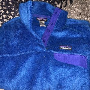 Fuzzy patagonia button up